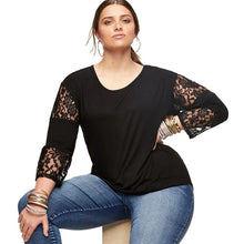 Lace Patchwork Womens Long Sleeve