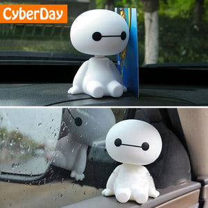 Baymax Robot Bobble Head Figure Car Ornaments