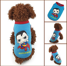 Pet Dog & Cat Cute Superheroes Fleece Clothes