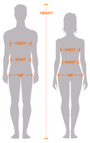Hip  Measure around the fullest part of your body 9b8806178