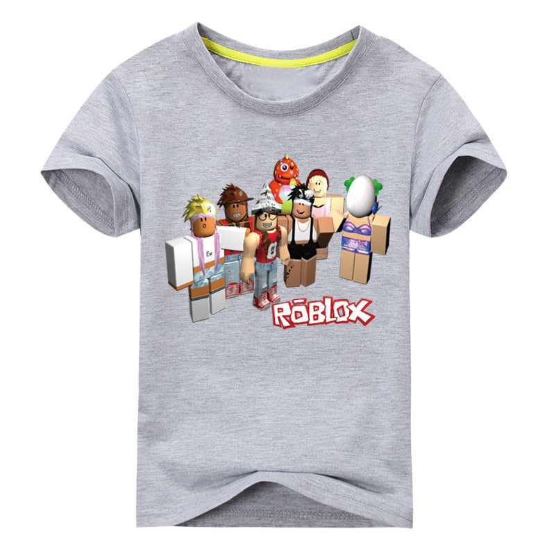 9829c1429 Load image into Gallery viewer, Children Summer Short Sleeve T-shirt Kids  Roblox Games ...