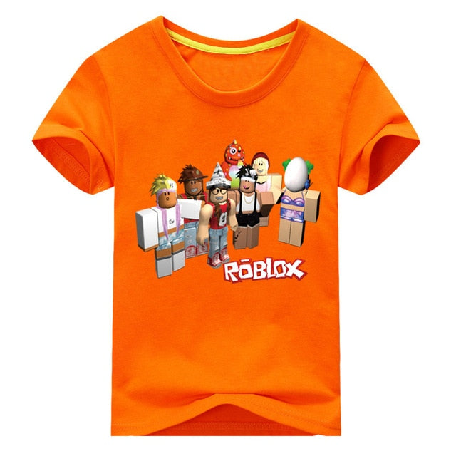 6ab6b456c ... Load image into Gallery viewer, Children Summer Short Sleeve T-shirt  Kids Roblox Games ...