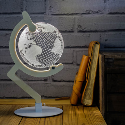 3D illusion globe lamp