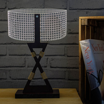 3D Illusion Round Table Lamp
