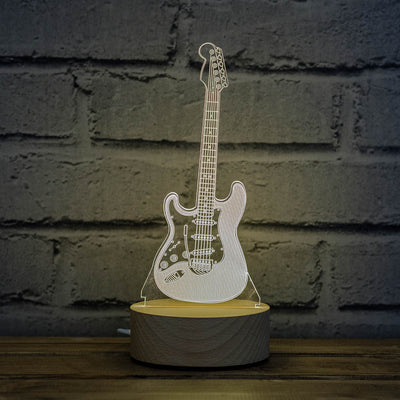 3D illusion electric guitar lamp