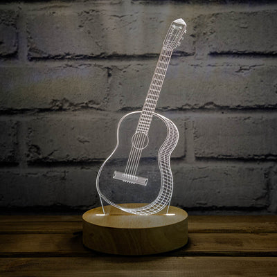 3D illusion guitar lamp