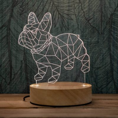 3D illusion dog lamp