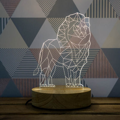 3D Illusion Lion Lamp
