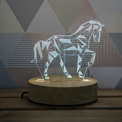 3D Illusion Horse Lamp