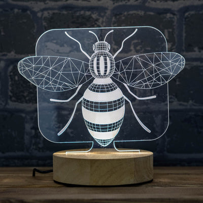 3D illusion bee lamp