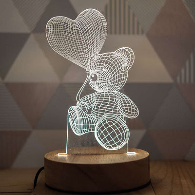3D Illusion Teddy Bear Lamp