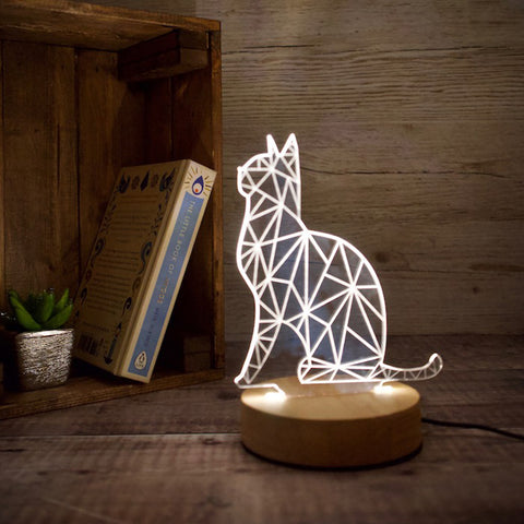 cat lamp in the UK. Gifts for cat lovers