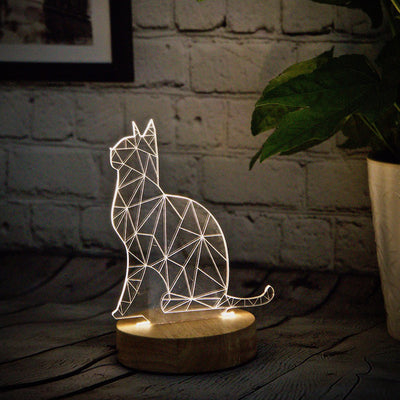 3D Illusion Cat Lamp