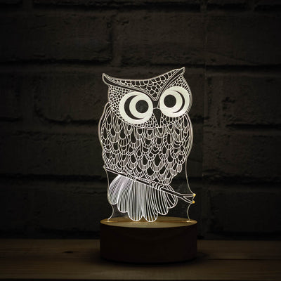 owl 3d illusion lamp in England