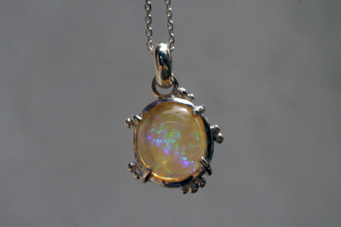 Little Speckle Fire Opal Pendant