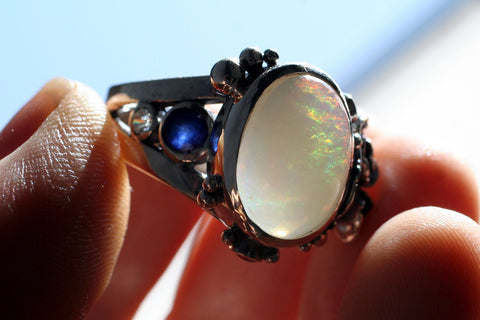 Mexican Opal Succulent Ring