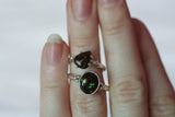 Fire Agate Speckle Rings