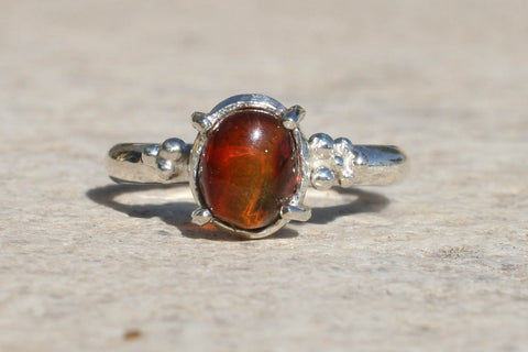 Amber Speckle Rings