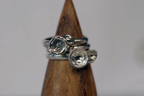 Water Cast Rings size 5.5