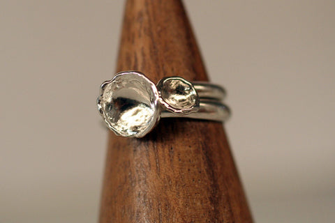 Water Cast Rings size 6.75