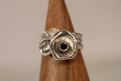 Water Cast Rings size 8