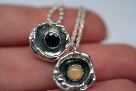 Water Cast Pendants (with stone)