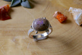 Purple Mexican Opal Ring