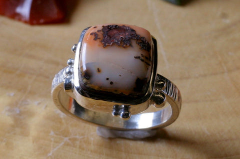 Mexican Opal Square Ring