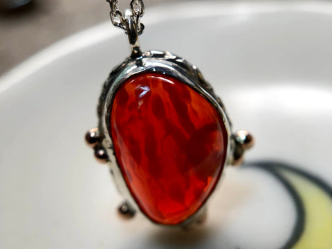 Strawberry Opal Pendant
