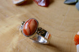 Orange Mexican Opal Ring