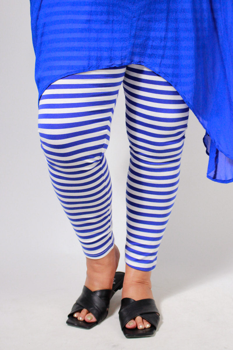 TCD Leggings - Cobalt White