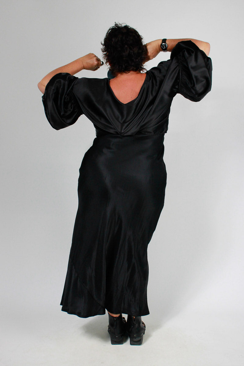 TCD Long Bias Slip - Silky Black Viscose