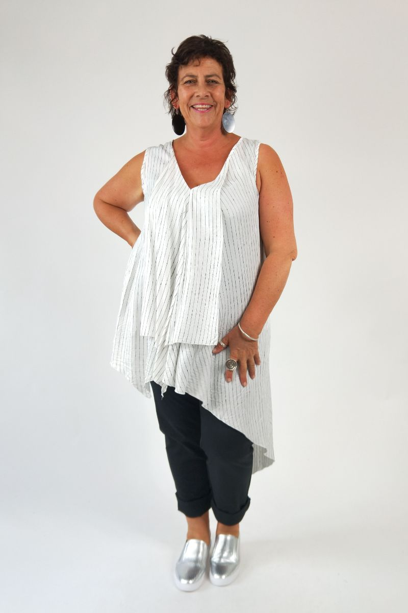 TCD Freefall Tunic - Cream Stripe