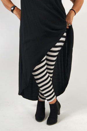 TCD Leggings - Big Stripe B&W
