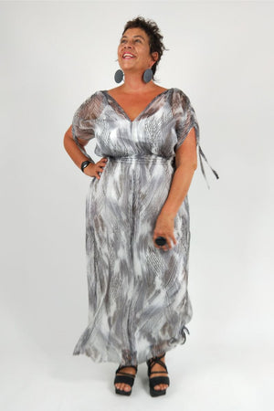 TCD Whimsy Gown - Black Crosshatch
