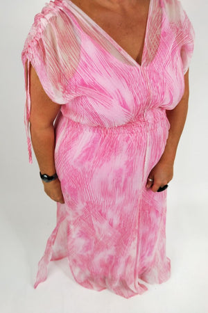 TCD Whimsy Gown - Pink Crosshatch