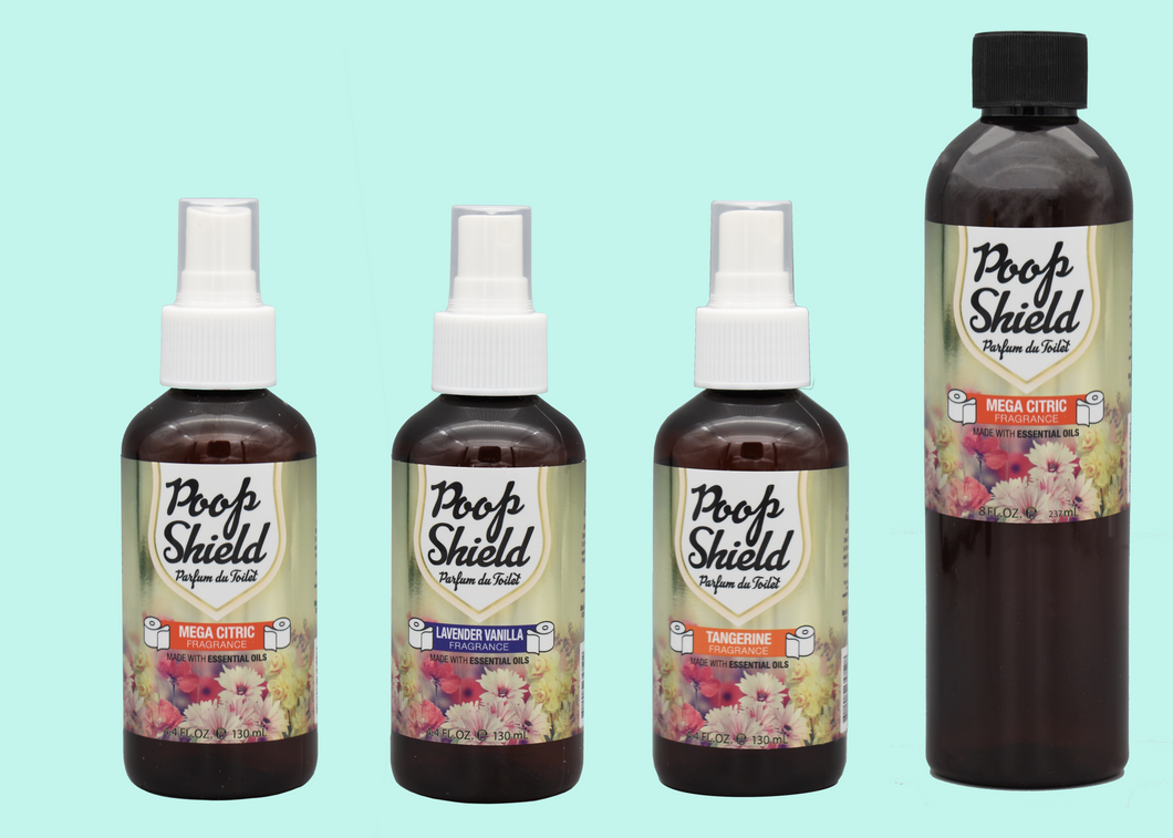 Poop Shield Set of 4oz (3pcs) & 8oz (1pc)