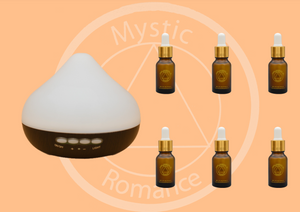 Set Diffuser with 6 Essential Oils
