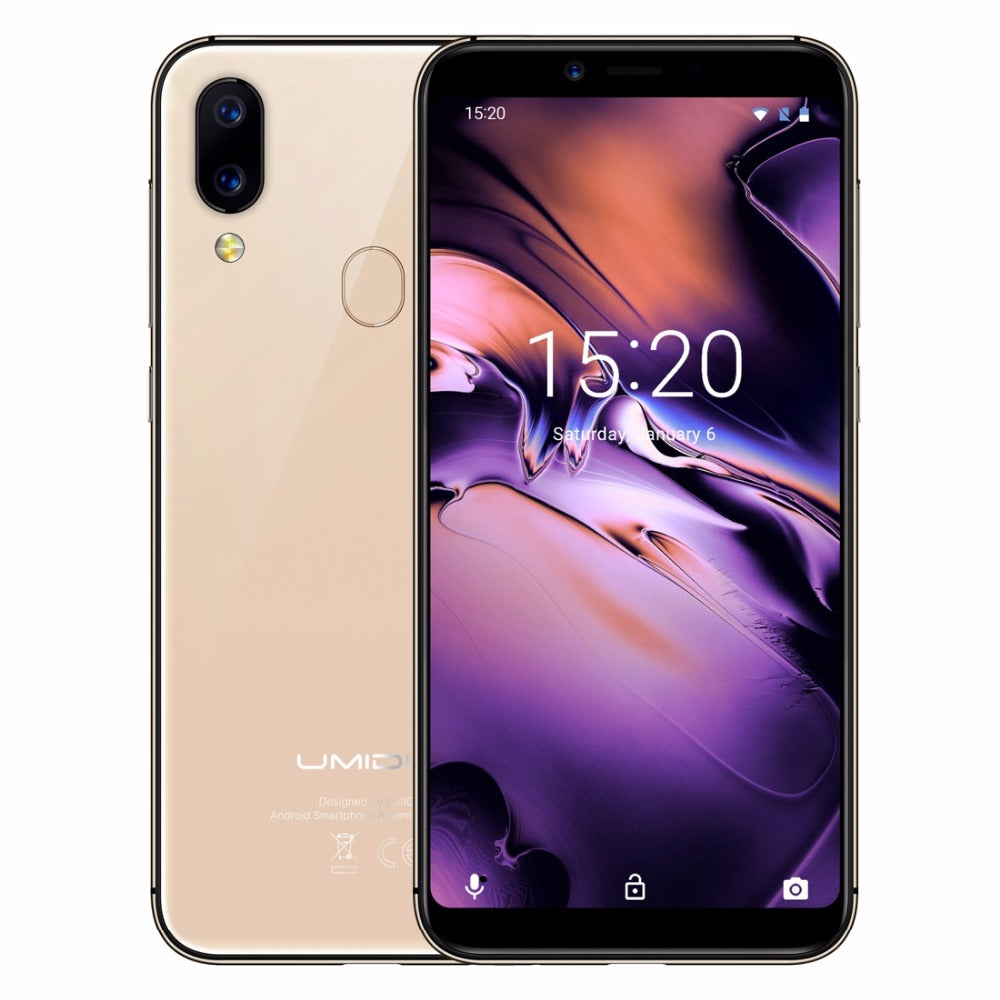 UMIDIGI A3 Global Bands 5.5 Inch HD+ 3300mAh 2GB RAM 16GB ROM MT6739 Quad Core 1.5GHz 4G Smartphone