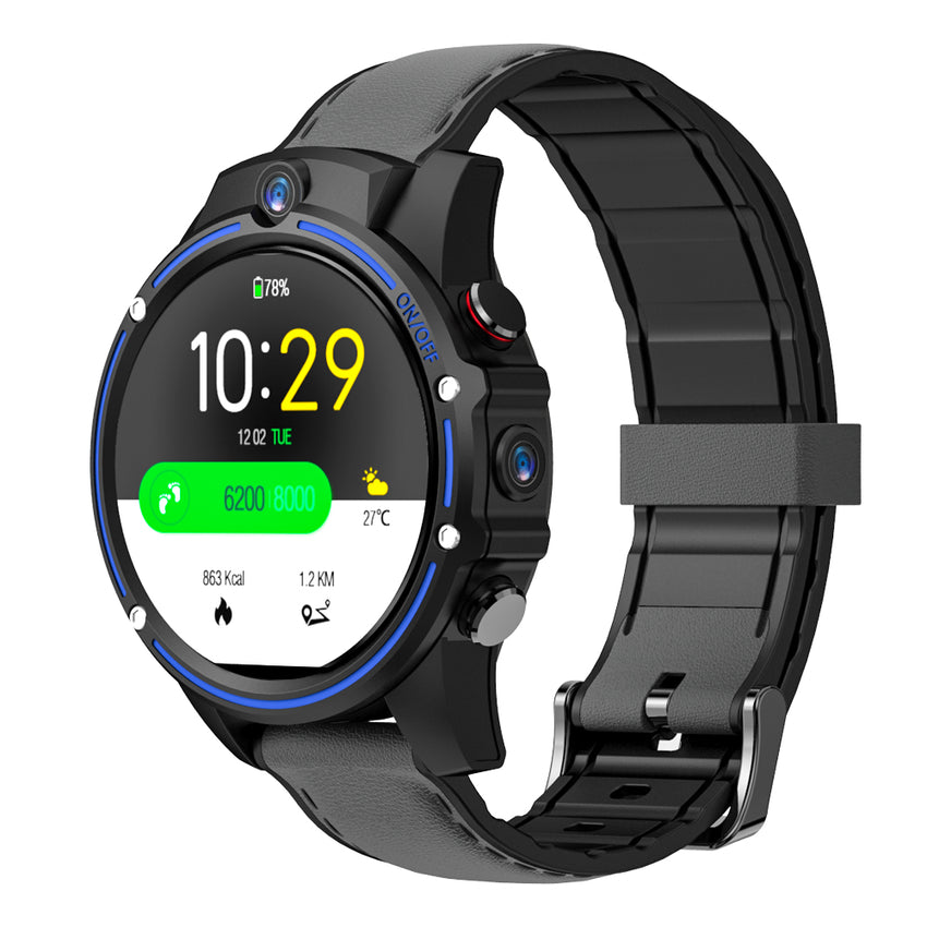 Kospet Vision 1.6' LTPS Crystal Display 3G+32G 8.0MP Front-facing Dual Camera 4G-LTE Video Call 800mAh Google Play Leather Strap Smart Watch Phone