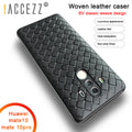 !ACCEZZ Luxury Soft TPU Grid Weaving Matte Back Cover Case Capa For Huawei Mate 10/10 Pro Ultra-Thin Full Protective Funda Coque