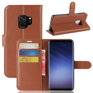 Case For Samsung Galaxy S9 Mobile Phone Faux Leather Sleeve Shell Samsung Card Protection Cover For Galaxy S7 S8 Active Note 5