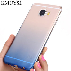 Colorful Gradient Silicone Case For Samsung Galaxy A6 A8 J4 J6 2018 S9 S8 Plus S7 S6 Edge A5 A7 J3 J5 J7 2017 2016 Note 8 Case