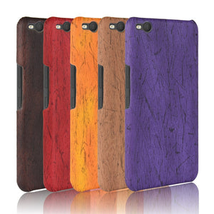 For HTC One X9 Phone Case Bumper PC Plastic PU Leather Cover For HTC X 9 X9u E56ML Dual Sim Wood Cases