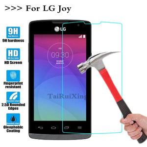 (TaiRuiXing) Screen Protector Film 0.3mm 9H 25D Front Premium Tempered Glass For For LG Joy H220 Y30 Cover