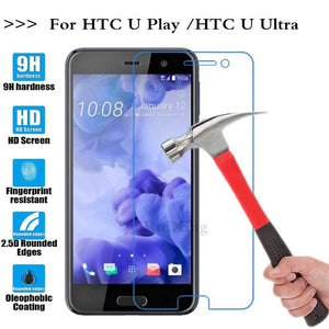 (TaiRuiXing) Screen Protector Film 0.3mm 9H 25D Front Premium Tempered Glass For HTC U Ultra/HTC U Play Cover