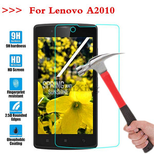 (TaiRuiXing) Screen Protector Film 0.3mm 9H 25D Front Premium Tempered Glass For Lenovo A2010 A 2010 Cover