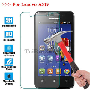 (TaiRuiXing) Screen Protector Film 0.3mm 9H 25D Front Premium Tempered Glass For Lenovo A319 A 319 Cover
