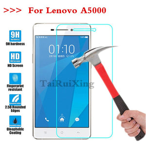 (TaiRuiXing) Screen Protector Film 0.3mm 9H 25D Front Premium Tempered Glass For Lenovo A5000 A 5000 Cover