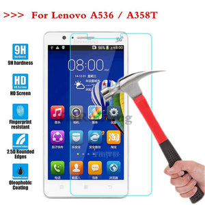 (TaiRuiXing) Screen Protector Film 0.3mm 9H 25D Front Premium Tempered Glass For Lenovo A536 A 536 A358T A358t Cover